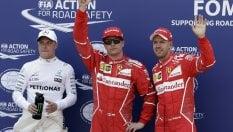 Montecarlo, prima fila Ferrari: Raikkonen in pole, Vettel 2°