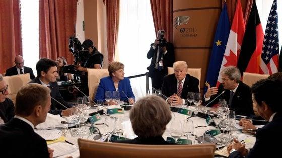 G7, il documento finale: Trump cede sul protezionismo, ma non arretra sul clima