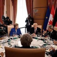 G7, il documento finale: Trump cede sul protezionismo, ma non arretra sul