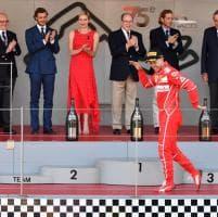 F1, Gp Monaco: Vettel, festa sul podio con balletto