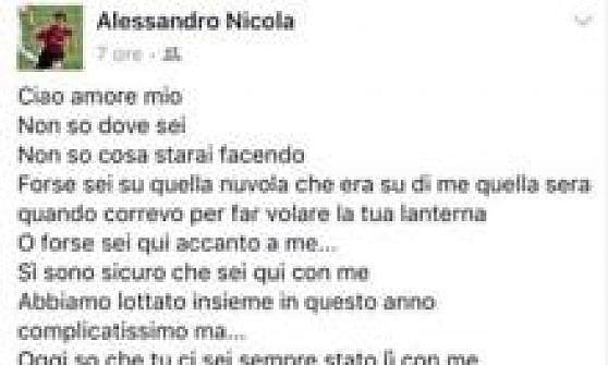"""Crotone, Nicola lettera al figlio che non c'è più: """"Questa vittoria è anche la tua"""""""