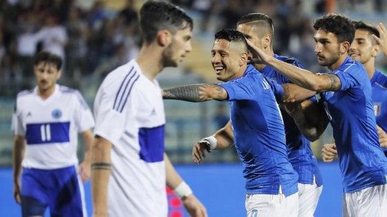 Italia-San Marino 8-0: tripletta di Lapadula, Ventura sorride