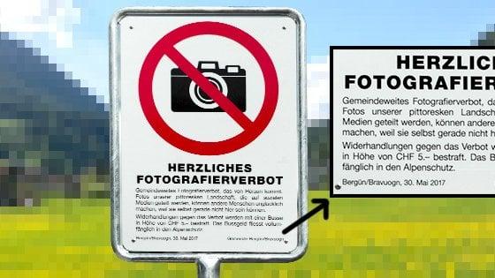 """""""Troppo belli per chi non ci scopre live"""". Borgo svizzero vieta ai turisti di fare foto"""