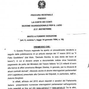 """Derivati, l'accusa della Corte dei Conti: """"Tesoro negligente"""""""