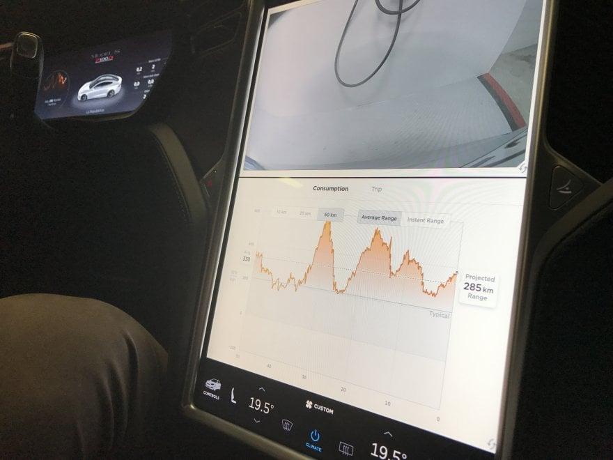 Gli schermi tattili della Tesla