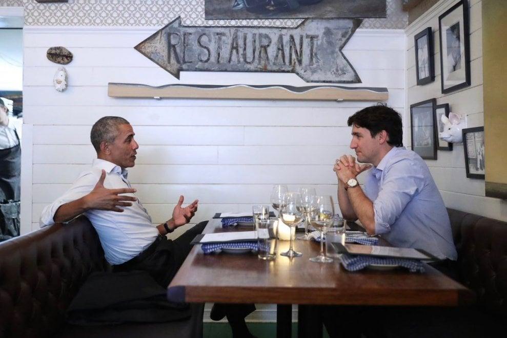 Montreal, cena a lume di candela per Obama e Trudeau