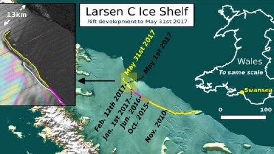 Antartide, il distacco è vicino: la piattaforma di ghiaccio Larsen C creerà super iceberg