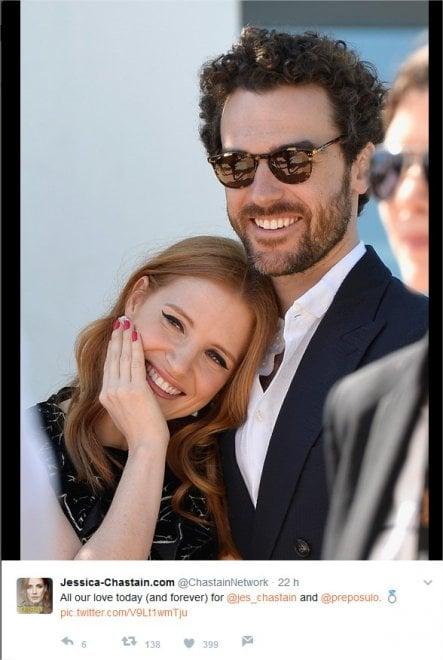 Jessica Chastain e Gian Luca Passi, nozze da favola a Treviso