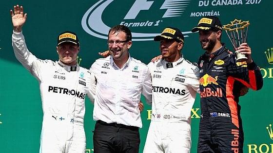 F1, Hamilton trionfa in Canada: problemi per le Ferrari, Vettel quarto