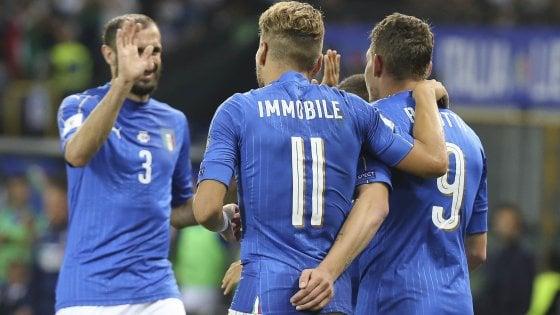 Qualificazioni Mondiali, Italia-Liechtenstein 5-0: gioiello di Insigne e il primo gol di Bernardeschi