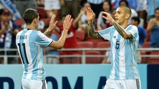 Amichevoli, Argentina e Brasile sul velluto: in gol anche il Papu Gomez