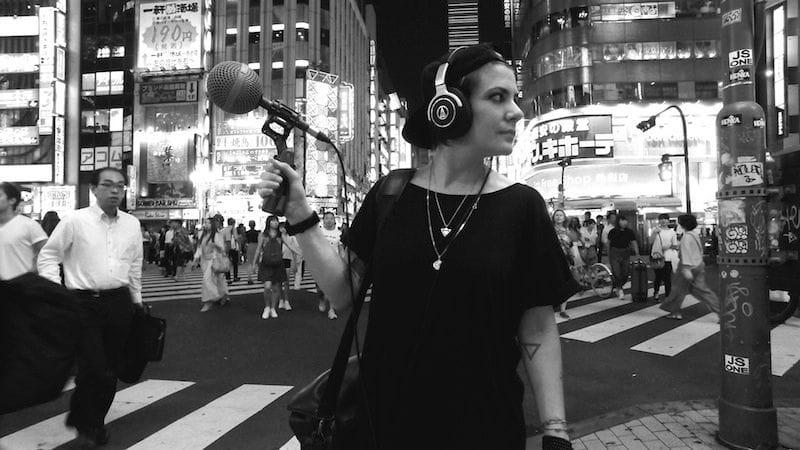 Chiara Luzzana a Tokyo per le registrazioni del progettoThe Sound of City ®