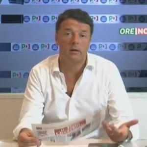 """Renzi avverte Pisapia: """"Le alleanze a sinistra si costruiscono sulle cose da fare"""""""