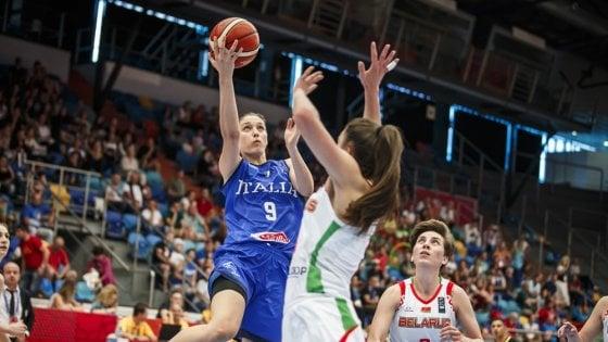 Basket donne, Europei: esordio vincente per l'Italia, battuta la Bielorussia