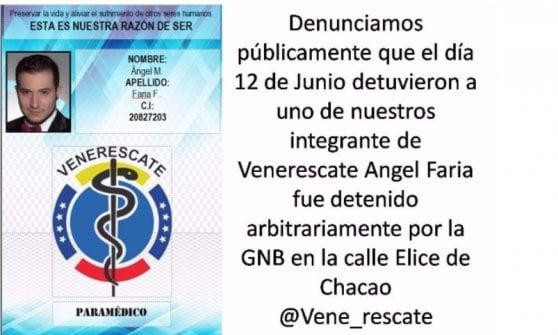 """Ragazzo italiano fermato in piazza in Venezuela: """"Accusato di terrorismo"""". Gli amici e l'avvocato: """"E' innocente"""""""