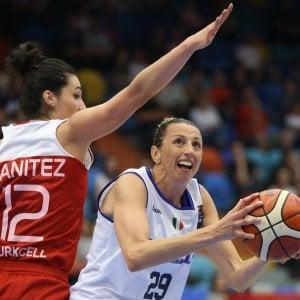 Basket, Europei femminili: le azzurre cedono di misura alla Turchia