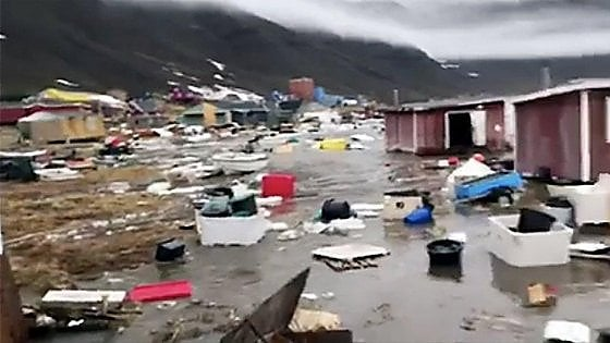 Tsunami in Groenlandia, 4 dispersi