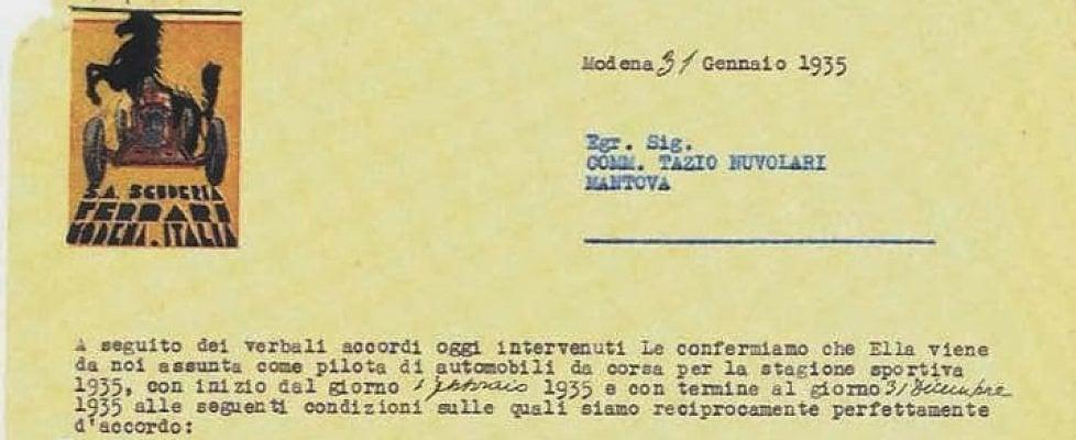 Nuvolari, 250 mila lire l'anno: ecco il suo contratto con l'Alfa nel 1935
