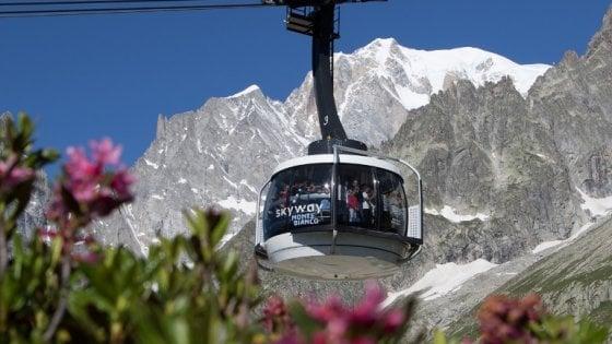Estate in montagna sulle Alpi della Val d'Aosta