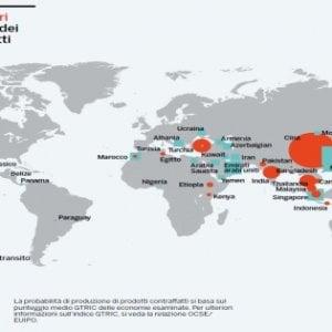L'import di falsi vale 460 mld: Albania, Egitto, Marocco e Ucraina le porte per l'Europa