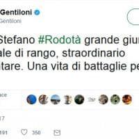 Morto Stefano Rodotà, il cordoglio della politica su Twitter