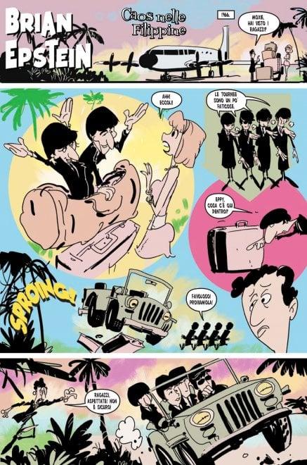 I Beatles sono a fumetti, al Romics la mostra 'disegnata' sui Fab Four