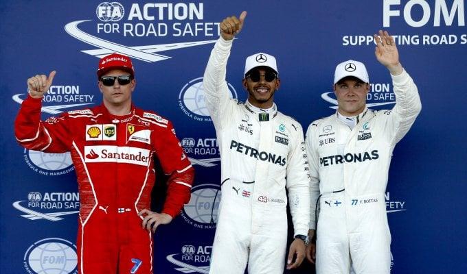 F1, Gp Azerbaigian: pole di Hamilton, seconda fila per le Ferrari