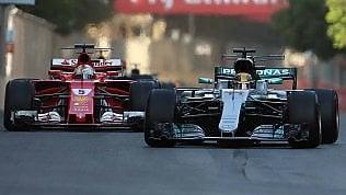 A Baku Gp folle fotoVince Ricciardo videoVettel 4° dopo litigio in pista con Hamilton