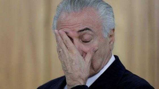 Brasile, il presidente Temer accusato ufficialmente di corruzione