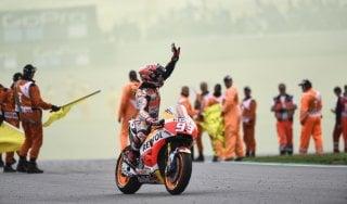 MotoGp, Marquez re del Sachsenring. Italiani indietro: Rossi quinto, Dovizioso ottavo