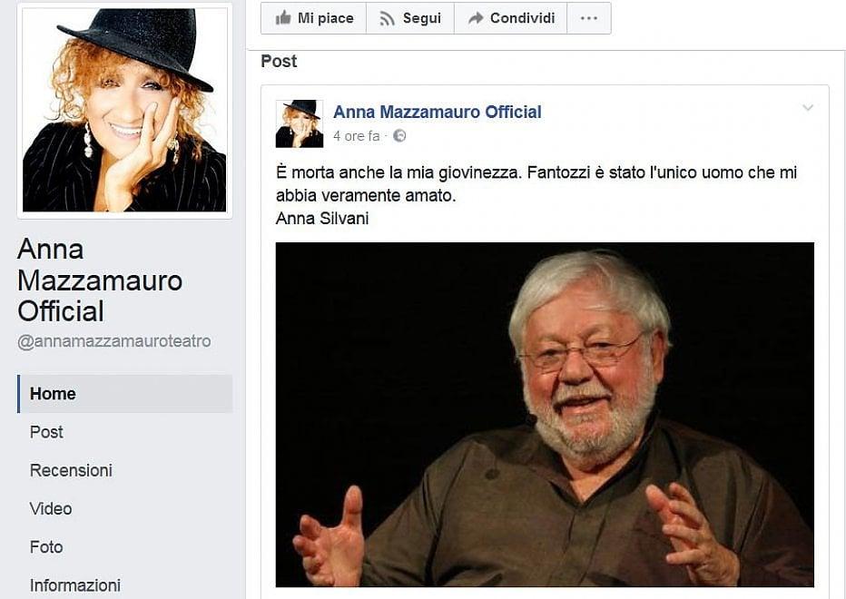 """Morte Villaggio, il saluto di Anna Mazzamauro: """"Fantozzi, l'unico che mi abbia mai veramente amato"""""""