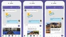 In chat  YouTube, Spotify e Booking: estensioni per video, musica e viaggi