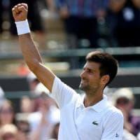 Tennis, Wimbledon: Djokovic passeggia, Federer ok. Fuori Lorenzi, Del Potro e Pliskova