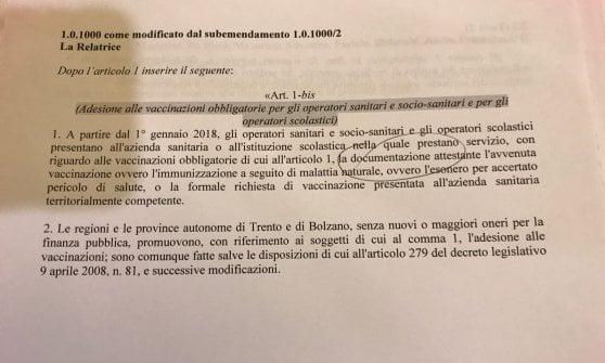 Vaccini, al via in Senato l'esame del dl. No fiducia, ma Lega vuole voto segreto. Passa emendamento anti Stamina