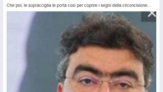 """Il vergognoso post di Corsaro contro Fiano: """"Con le sopracciglia copre i segni della circoncisione"""""""