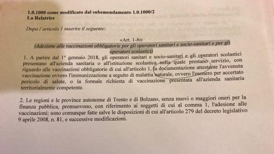 Vaccini, no commissione Bilancio a obbligo per medici e insegnanti. Lorenzin: