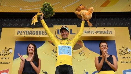 Tour de France, Aru è maglia gialla: Froome soffre sui Pirenei, tappa a Bardet