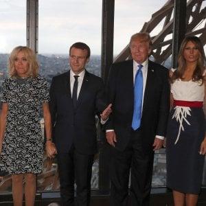 """Trump a Parigi da Macron: """"Sul clima potrebbe cambiare qualcosa"""""""