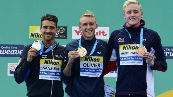 Nuoto, Mondiali: prima medaglia azzurra, Sanzullo d'argento nel fondo