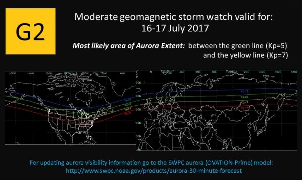 Eruzione sul Sole, arriva una tempesta geomagnetica