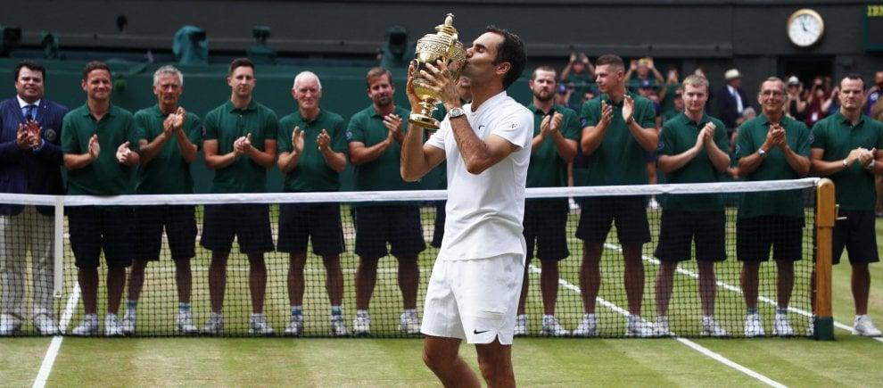 Wimbledon, la festa di Federer