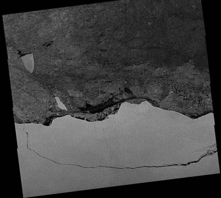 Ecco le foto dell'iceberg gigante in Antartide. Scattate dai satelliti italiani