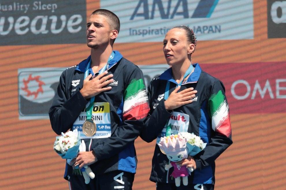 """Mondiali nuoto sincronizzato: medaglia con """"A scream from Lampedusa"""""""