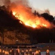 La mappa degli incendi in Italia