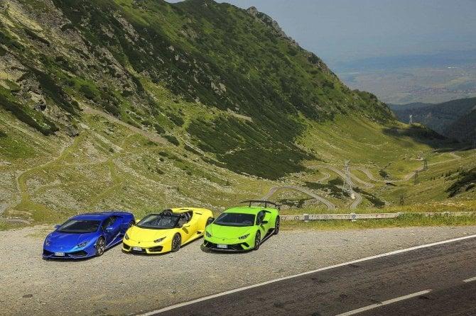 Lamborghini show sulla Transfagarasan, una delle strade più belle del mondo