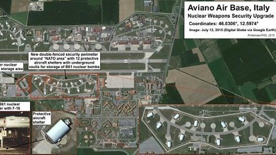 Gli Usa mettono il segreto sulle armi atomiche in Italia