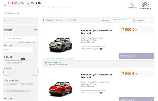 Peugeot Webstore e  Citroën Carstore, l'auto si acquista online