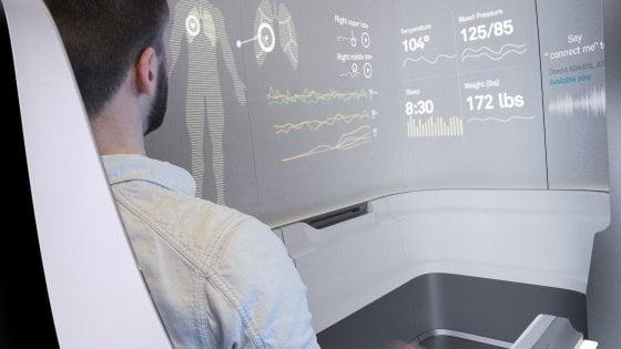 L'auto a guida autonoma si trasforma in una clinica