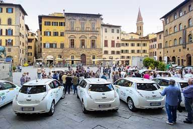 Nissan Leaf è l'auto elettrica più scelta dai tassisti fiorentini