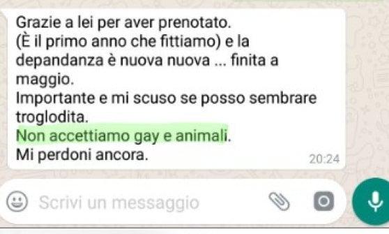 """Calabria, coppia omosessuale respinta da struttura presso Tropea: """"Qui no animali né gay"""""""
